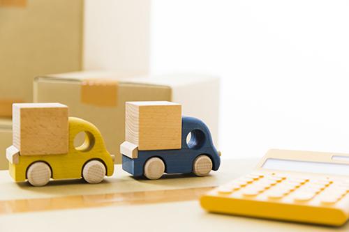 トラックのおもちゃ