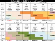 アパレル販促カレンダー