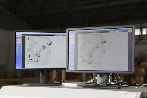 X線検査機の画面